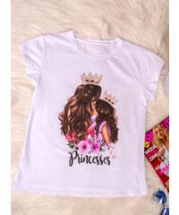 6754d27aba63 MODA ITALIA Biele tričko s potlačou princesses