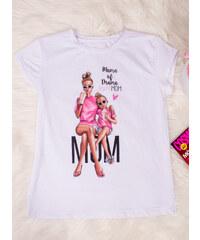 b0c2a1b0934b MODA ITALIA Biele tričko s potlačou Mama of Drama