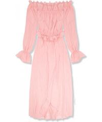 2d6874bfad70 Trendovo Púdrovo ružové letné dlhé šaty