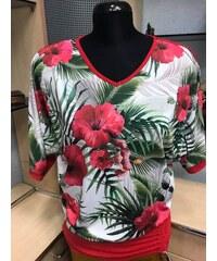 0d4acede62 Vilavy Trópusi Virágmintás Tunika