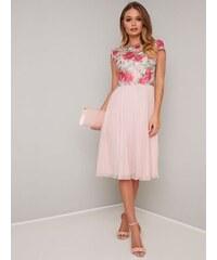 7f6cf1dcfe94 Chi Chi London Chi Chi Lydie Ružové šaty s kvetinovým topom