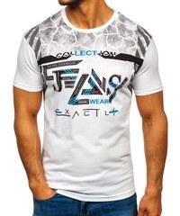 0e162c9ceb32 Biele pánske tričko s potlačou BOLF 14226