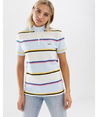 283082071a Lacoste x Opening Ceremony high neck stripe zip through tee - Multi