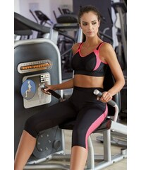 0132b3d6916e Lorin Dámské 3 4 fitness legíny Terry růžové pruhy