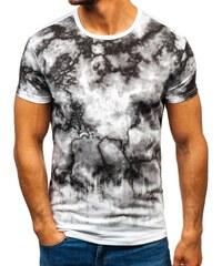 9c52deee4c14 Biele pánske tričko s potlačou BOLF 100787
