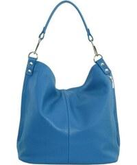 001357400778 TALIANSKE Talianska kožená kabelka hadia koža na plece modrá Vanda ...