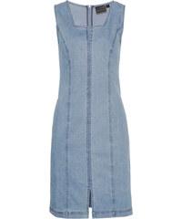 6266b2f2c293 Bonprix Strečové džínsové šaty na traky - Glami.sk