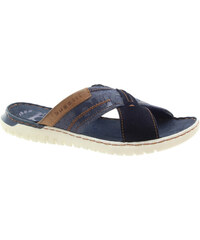 60454c614f BUGATTI Pánské kožené pantofle dark blue 321-70780-6914-4141-257