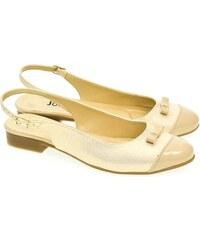 21608c461353 JOHN-C Dámske béžovo-zlaté sandále EVELINE 35