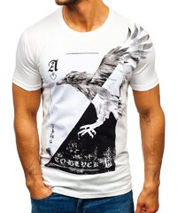 0889648597af Biele pánske tričko s potlačou BOLF 181210