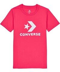 c2400a66da Converse Világos rózsaszín női póló Core Solid Chuck Patch - Glami.hu