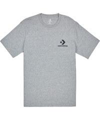 0e53f292fe CONVERSE Šedé tričko Left Chest Star Chevron Tee S
