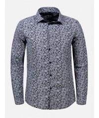 2938fa978aa8 Arthur Phillip - Premium Tmavomodrá vzorovaná košeľa Flint