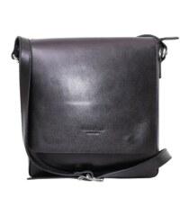 3c6e123c132d TALIANSKE Talianska Pánska kožená kabelka   taška crossbody čierna Kevin  Vera pelle