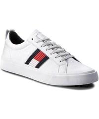 f5d49a3ec84f Tommy Hilfiger pánske biele tenisky Flag