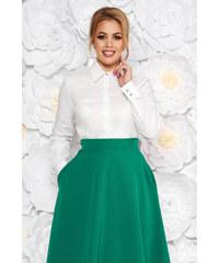 9b00128517 StarShinerS Fehér női ing irodai szűk szabás enyhén elasztikus pamut hosszú  ujjak