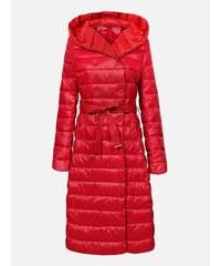 35d888846736 LAURA LONDI Červený prešívaný dámsky kabát LOOK