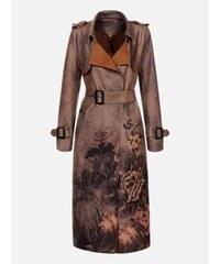52034574dc LAURA LONDI Sivý vzorovaný dámsky kabát Spring Two
