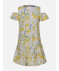 9906eee3db61 Harpers New Collection Biele vzorované dievčenské šaty Rosa Azul ...