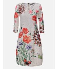 d249c384541e LAURA LONDI Vzorované dámske šaty Franca
