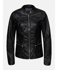 155e29c81a5d KOKAI New Collection Čierna kožená dámska bunda Dantona