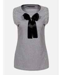 c08e57d08 LAURA LONDI Sivé dámske tričko Neapol