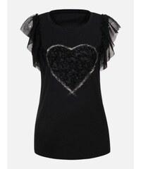 24457ccd6208 LAURA LONDI Čierne dámske tričko Perugia
