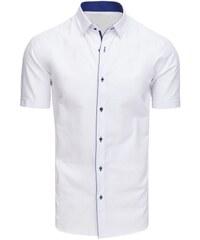 156eead51e25 Dstreet Pánska elegantná košeľa s krátkym rukávom biela