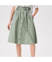 1ebf00a69838 Sinsay - Áčková sukňa s gombíkmi vpredu - Zelená
