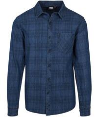 47eb18524c0e Urban Classics Pánska riflová košeľa Flanger tmavomodrá
