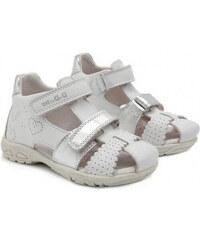 2668b476c892 Dievčenské sandále kožené D.D.STEP AC290-7035 white