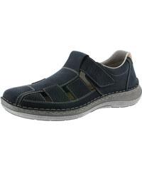 348c2a240487 Modrá pánska uzatvorená sandála značky Rieker