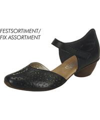 76c8536fddff Čierna dámska uzatvorená sandála na nízkom podpätku značky Rieker
