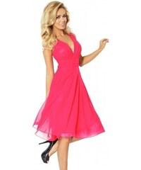 b5a776b2d745 Šifónové dámske šaty Devin - svetlo ružové 35-10-Woman