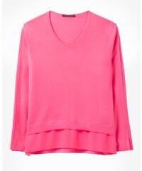 27656634e6aa Luisa Cerano Luxusný dámsky sveter z merino vlny ružový