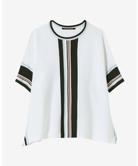 20aa71b5d8d4 Dámsky sveter Luisa Cerano biely s krátkym rukávom
