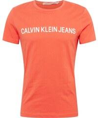 d0f53fca8b21 Calvin Klein Jeans Tričko korálová   bílá