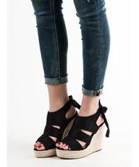0a04befe157f Čierne Dámske sandále na platforme