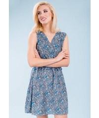 eb29d83b4c28 Bielo-modré šaty s pruhovanou sukňou Dolly   Dotty Anna - Glami.sk