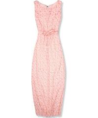 0921896f5a07 Trendovo Ružové kvetinové maxi šaty