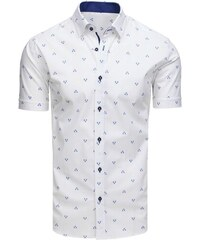 518b9f75406e Dstreet SLIM FIT biela módna košeľa