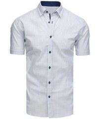 141e11516898 Dstreet Perfektná biela elegantná vzorovaná košeľa