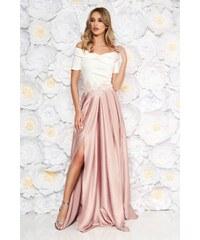 bbc8e0dd40 StarShinerS Rózsaszínű Artista alkalmi ruha hímzett betétekkel szatén  anyagból