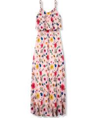 e08a960b74c2 Trendovo Púdrové maxi kvetinové farebné šaty