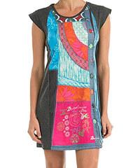 634c49799bd9 Šedé šaty s barevným potiskem Desigual