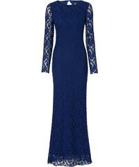 BODYFLIRT boutique Langes Spitzenkleid langarm in blau von bonprix