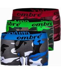 46ed889289 Ombre Clothing Pánské boxerky U36 maskáčové balení tří kusů