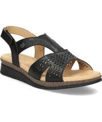eceaa49a93e4 Comfit Kožené sandále na kline čierne