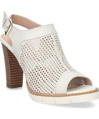 ed4f6b7101d2 Flexible Dámske kožené sandále na podpätku s perforáciou