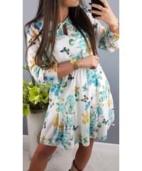 10e9aa823222 PLANETA-MODY Biele šaty s kvetovaným motívom